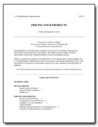 Pricing Your Products by Small Business Administration