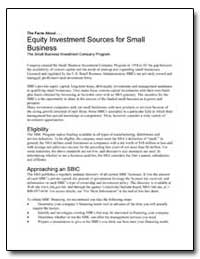 Equity Investment Sources for Small Busi... by Small Business Administration