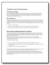 Fixed-Asset Loans for Small Businesses by Small Business Administration