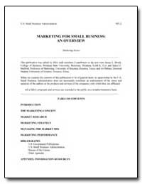 Marketing for Small Business: An Overvie... by Small Business Administration