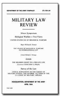 Military Law Review by Neinast, William H., Major