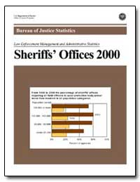 Bureau of Justice Statistics Sheriffs Of... by Greenfeld, Lawrence A.