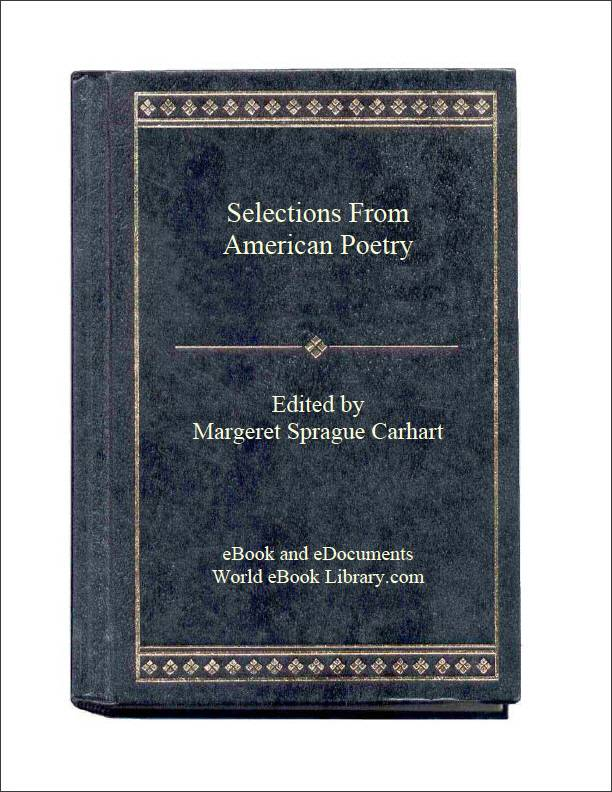Selections from American Poetry by Carhart, Margeret Sprague