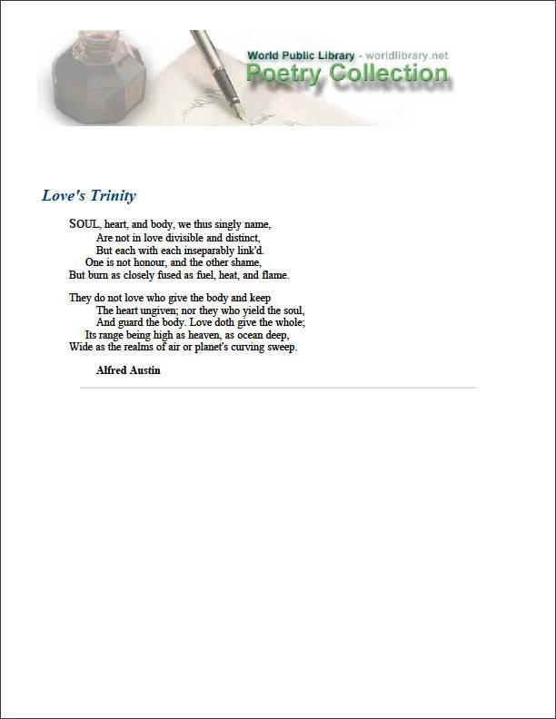 Love's Trinity by Austin, Alfred
