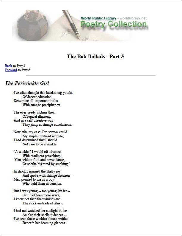 The Bab Ballads - Part 5 by Various