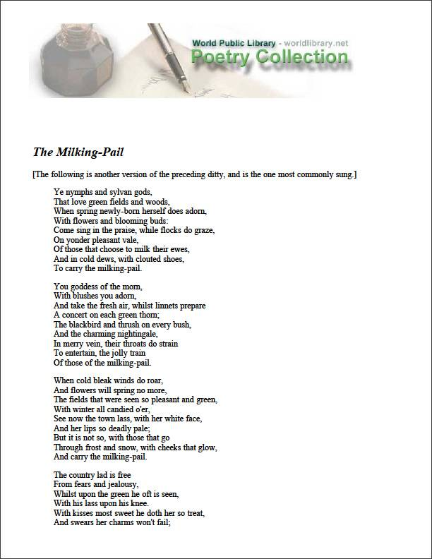 The Milking-Pail by Various