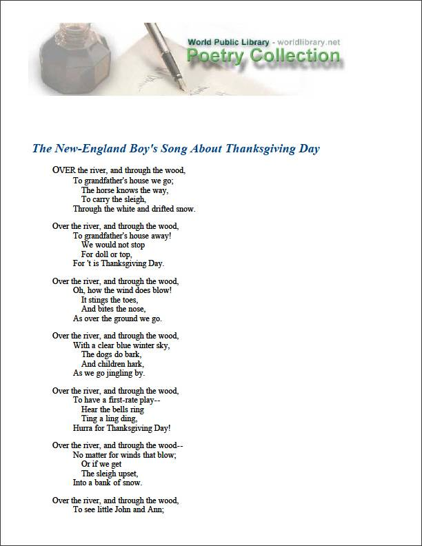 The New-England Boy's Song about Thanksg... by Child, Lydia Maria