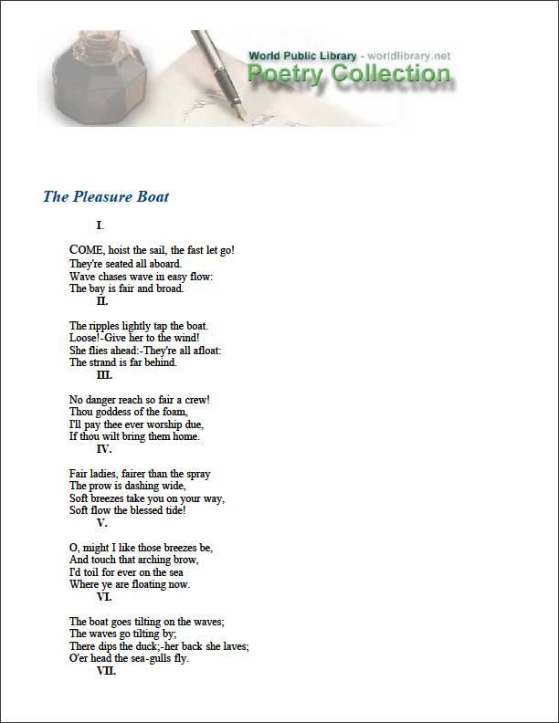 The Pleasure Boat by Dana, Richard Henry