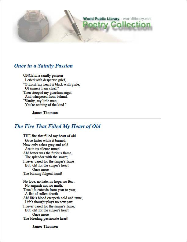 Once in a Saintly Passion by Thomson, James
