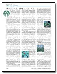 Medicinal Herbs : Ntp Extracts the Facts by United Nations