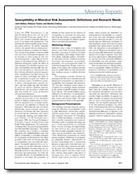 Susceptibility in Microbial Risk Assessm... by United Nations