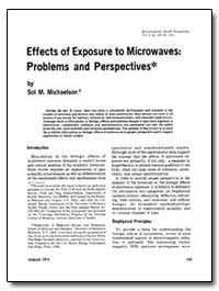 Effects of Exposure to Microwaves : Prob... by Michaelson, Sol M.