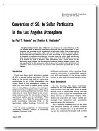 Conversion of So, To Sulfur Particulate ... by Roberts, Paul T.