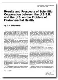 Results and Prospects of Scientific Coop... by Sidorenko, G. I.