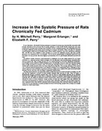 Increase in the Systolic Pressure of Rat... by Perry, H. Mitchell