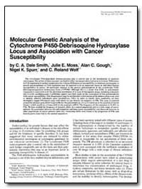 Molecular Genetic Analysis of the Cytoch... by Smith, C. A. Dale