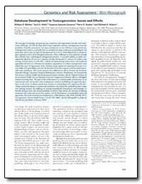Database Development in Toxicogenomics :... by Mattes, William B.