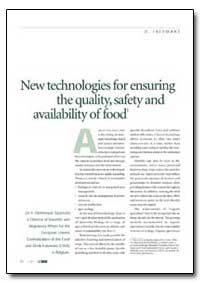 New Technologies for Ensuring the Qualit... by Food and Agriculture Organization of the United Na...