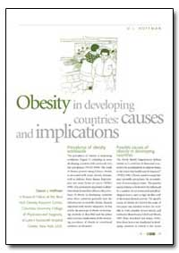 Obesity in Developing Countries: Causes ... by Hoffman, D. J.