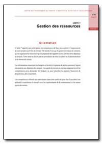 Gestion des Ressources by Food and Agriculture Organization of the United Na...