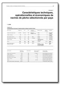 Annexe I Caracteristiques Techniques by Food and Agriculture Organization of the United Na...