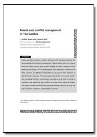 Forest User Conflict Management in the G... by Sonko, Kebba