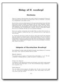 Biology of M. Rosenbergii by Food and Agriculture Organization of the United Na...