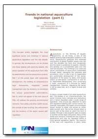Trends in National Aquaculture Legislati... by Spreij, Melvin