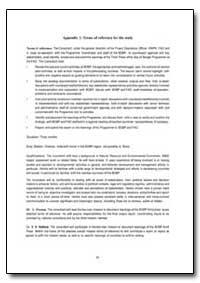 Terms of Reference for the Study by Food and Agriculture Organization of the United Na...