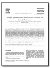 A Simple, Spreadsheet-Based, Food Safety... by Ross, Thomas