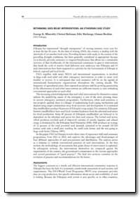 Rethinking Seed Relief Interventions: An... by Mburathi, George K.