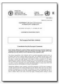 The European Food Safety Authority by Food and Agriculture Organization of the United Na...