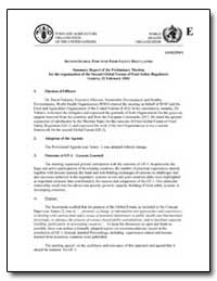 Summary Report of the Preliminary Meetin... by Food and Agriculture Organization of the United Na...