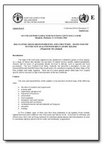 Regulatory Roles Responsibilities and St... by Food and Agriculture Organization of the United Na...