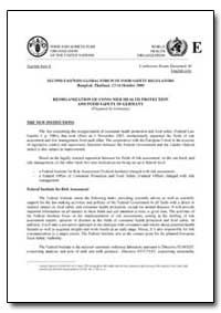 Reorganization of Consumer Health Protec... by Food and Agriculture Organization of the United Na...
