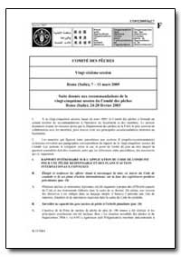 Suite Donnee Aux Recommandations de la V... by Food and Agriculture Organization of the United Na...