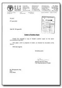 Sudan's Position Paper by Yehia, Abdulla Tahir Bin
