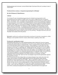 Psychosocial Interventions, Or Integrate... by Williamson, John