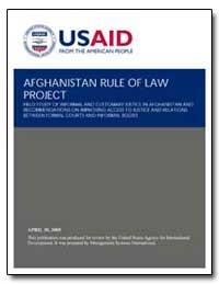 Afghanistan Rule of Law Project by International Development Agency