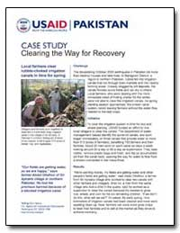 Clearing the Way for Recovery by International Development Agency