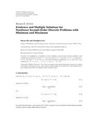 Advances in Difference Equations : July ... Volume Issue : July 2008 by Agarwal, Ravi P.