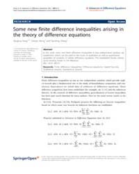 Advances in Difference Equations : July ... Volume Issue : July 2011 by Agarwal, Ravi P.