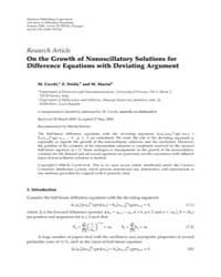 Advances in Difference Equations : June ... Volume Issue : June 2008 by Agarwal, Ravi P.