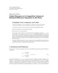 Advances in Difference Equations : Octob... Volume Issue : October 2009 by Agarwal, Ravi P.