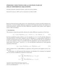 Advances in Difference Equations : Septe... Volume Issue : September 2005 by Agarwal, Ravi P.