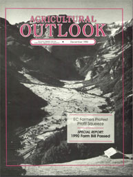 Agricultural Outlook : December 1990 Volume Issue December 1990 by Usda