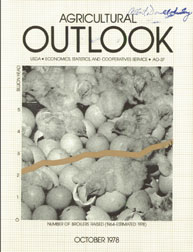 Agricultural Outlook : October 1978 Volume Issue October 1978 by Usda