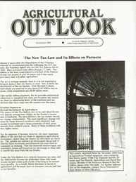Agricultural Outlook : Special Reprint N... Volume Issue Special Reprint November 1986 by Usda