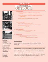 Agricultural Outlook : July 1997 Volume Issue July 1997 by Usda