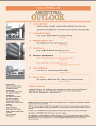 Agricultural Outlook : October 1997 Volume Issue October 1997 by Usda